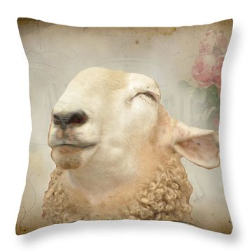 Sweety Pie Throw Pillow by Jan Amiss Photography