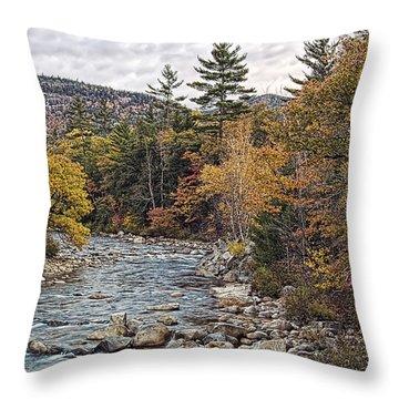 Throw Pillow featuring the photograph Swift River Autumn  by Richard Bean