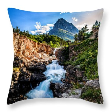Swiftcurrent Falls Throw Pillow