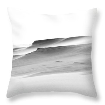 Swiftly Moving Dunes Throw Pillow by Adria Trail