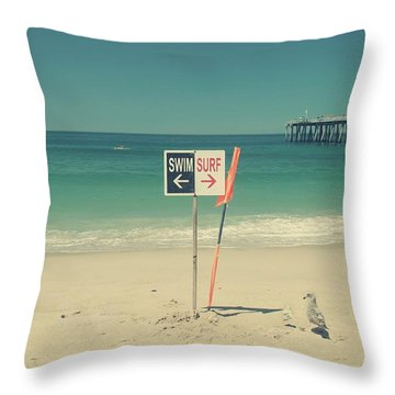 Swim And Surf Throw Pillow