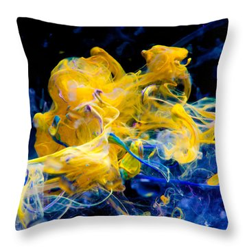 Swimming Elephant - Abstract Photography Wall Art Throw Pillow by Modern Art Prints