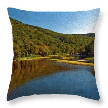 Swimming Hole Impasto Throw Pillow by Steve Harrington