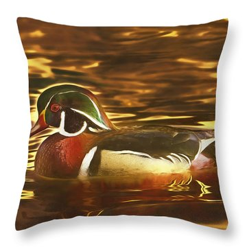 Throw Pillow featuring the photograph Swimming In A Sea Of Gold  by Brian Cross
