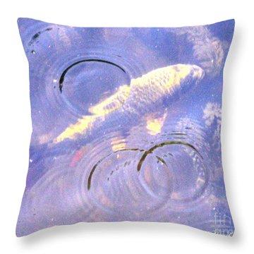 Swimming Koi Throw Pillow