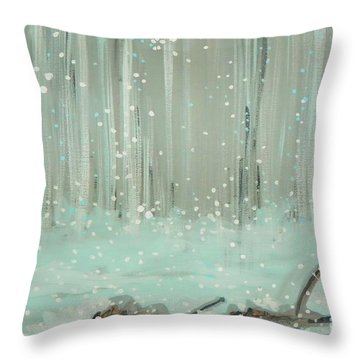 Swimming Leaves Throw Pillow