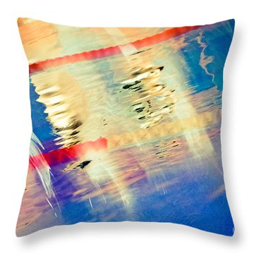 Swimming Pool 01b - Abstract Throw Pillow by Pete Edmunds