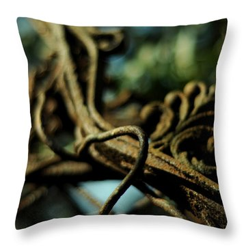Swimming Skyward Throw Pillow by Rebecca Sherman
