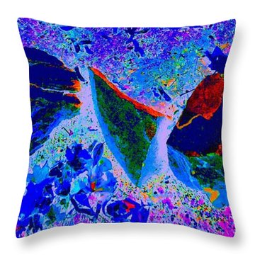 Throw Pillow featuring the photograph Swimming Through Space And Time by Ann Johndro-Collins