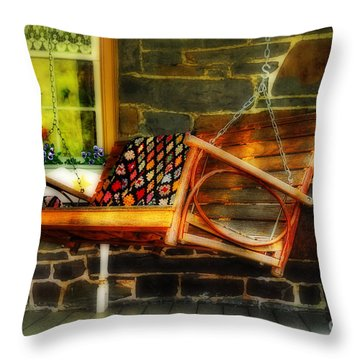 Swing Me Throw Pillow by Lois Bryan