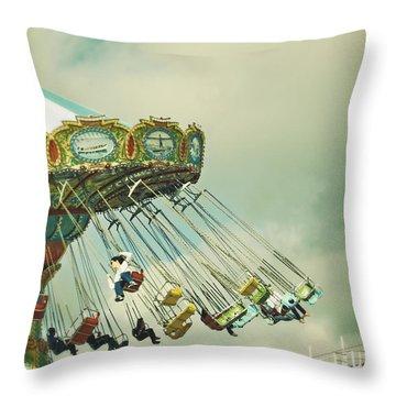 Swingin' - Santa Cruz Boardwalk Throw Pillow