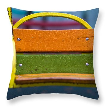 Swinging Rain - Featured 3 Throw Pillow