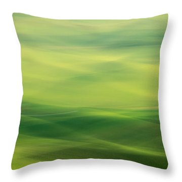 Swipe Of Palouse Rolling Hills Throw Pillow