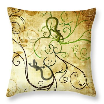 Lizard Throw Pillows