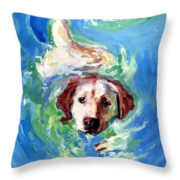 Swirl Pool Throw Pillow by Molly Poole