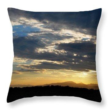 Throw Pillow featuring the photograph Swirl Sky Landscape by Matt Harang