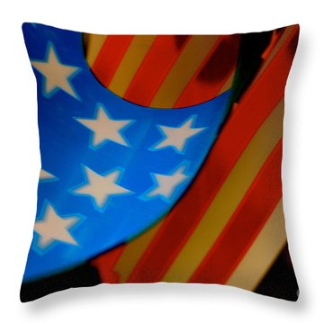 Swirled Stars Throw Pillow by Cathy Dee Janes