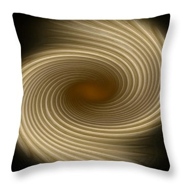 Throw Pillow featuring the photograph Swirling Abstract Design by Charles Beeler