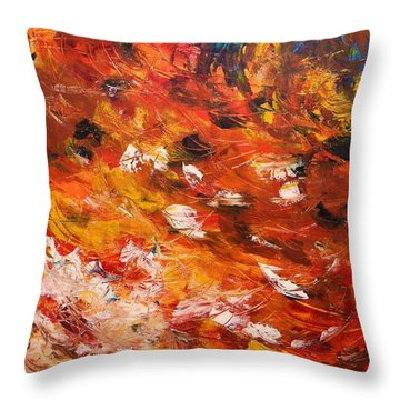 Swirling And Dancing Throw Pillow by John Williams
