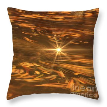 Throw Pillow featuring the photograph Swirling Autumn Leaves by Geraldine DeBoer