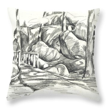 Swirling Cast Shadows At Elephant Rocks  No Ctc101 Throw Pillow