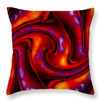 Swirling Fires Throw Pillow by Christopher Gaston
