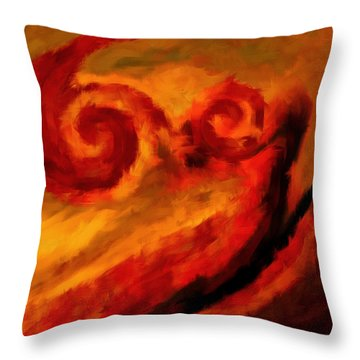 Swirling Hues Throw Pillow by Lourry Legarde