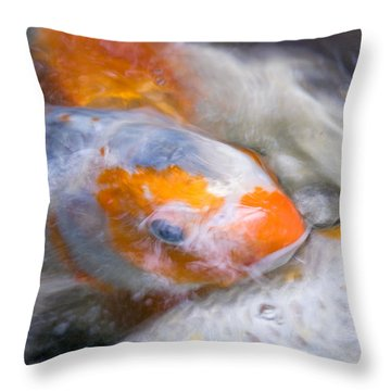 Swirling Koi Carp Throw Pillow