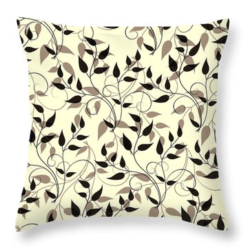 Throw Pillow featuring the photograph Swirling Leaf by Linde Townsend