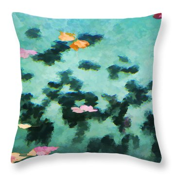 Swirling Leaves And Petals 2 Throw Pillow
