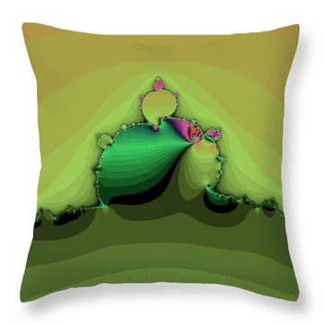 Swirling Peaks Throw Pillow