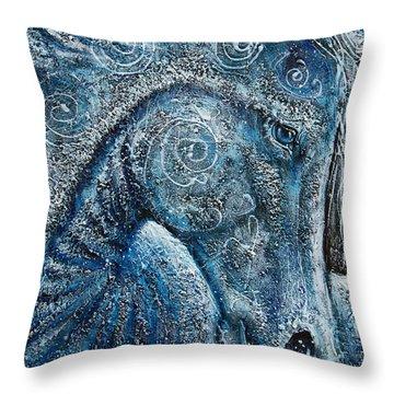Swirling Spiraling Snow Throw Pillow