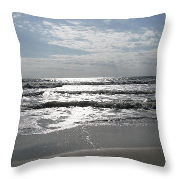 Swirling Sunshine Throw Pillow by Ellen Meakin