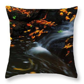 Swirls Throw Pillow by Melissa Petrey