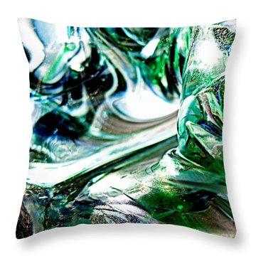Swirls Of Color And Light II Throw Pillow by Kitrina Arbuckle