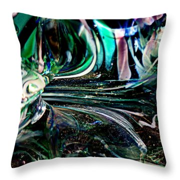 Swirls Of Color And Light Throw Pillow by Kitrina Arbuckle
