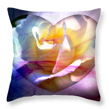Swirls Of Love And Hope Throw Pillow by Judy Palkimas