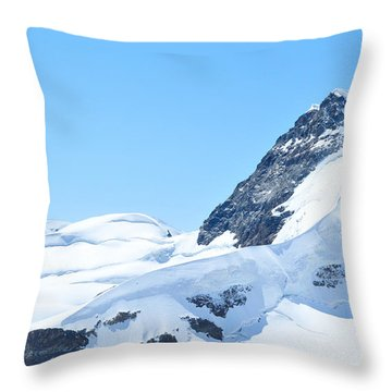 Throw Pillow featuring the photograph Swiss Alps by Joe  Ng