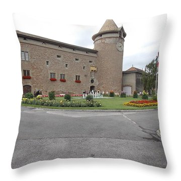 Swiss Castle Throw Pillow