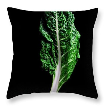 Swiss Chard Throw Pillow