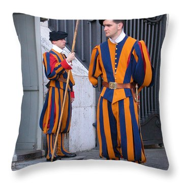 Swiss Guard Throw Pillow