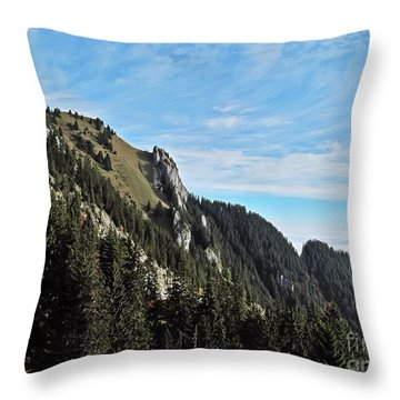 Swiss Sights Throw Pillow