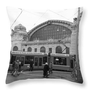 Swiss Railway Station Throw Pillow