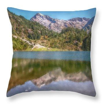 Swiss Tarn Throw Pillow