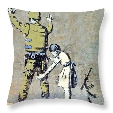 Switch Roles Throw Pillow by Munir Alawi