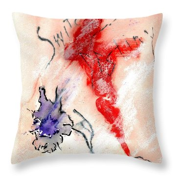 Switching Destiny Throw Pillow by Lesley Fletcher