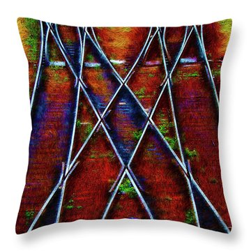 Center Diamond Throw Pillow