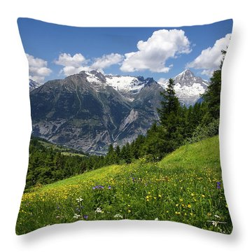 Switzerland Bietschhorn Throw Pillow