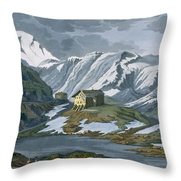 Switzerland Hospice Of St. Bernard Throw Pillow by Italian School