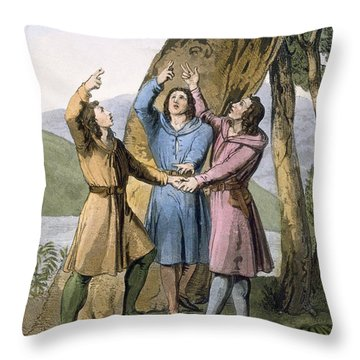 Switzerland The Three Leaders Throw Pillow by Gallo Gallina